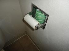 No toilet tuck...